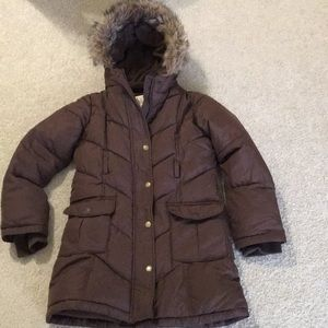 Old navy girl's jacket, brown, size Large
